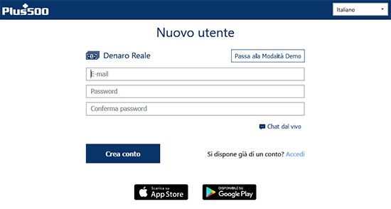 plus500 registrazione